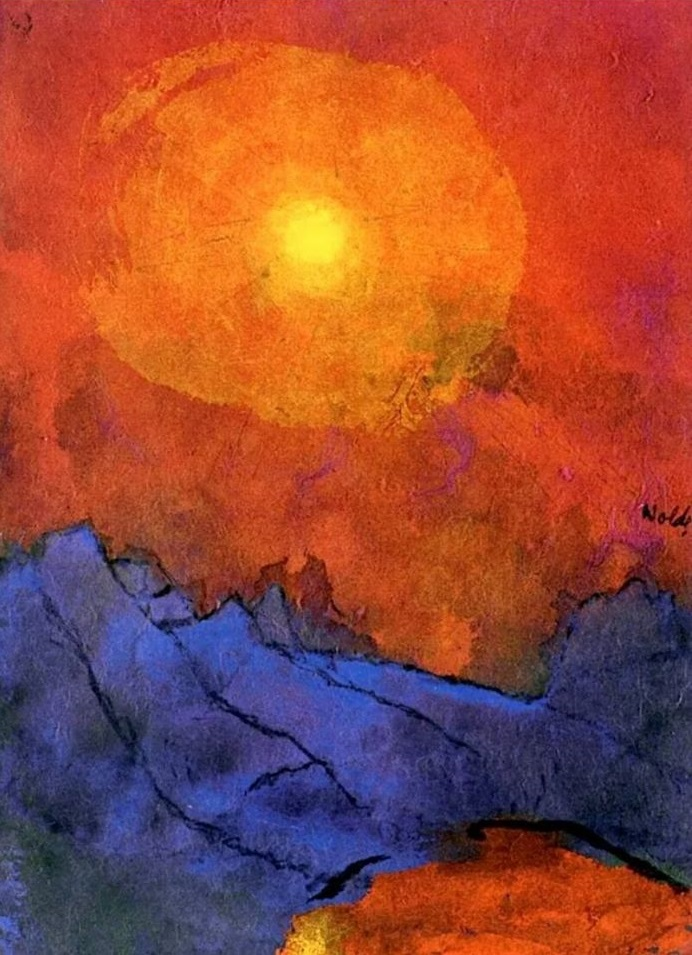 sunset-over-bleu-mountains-emil-nolde1