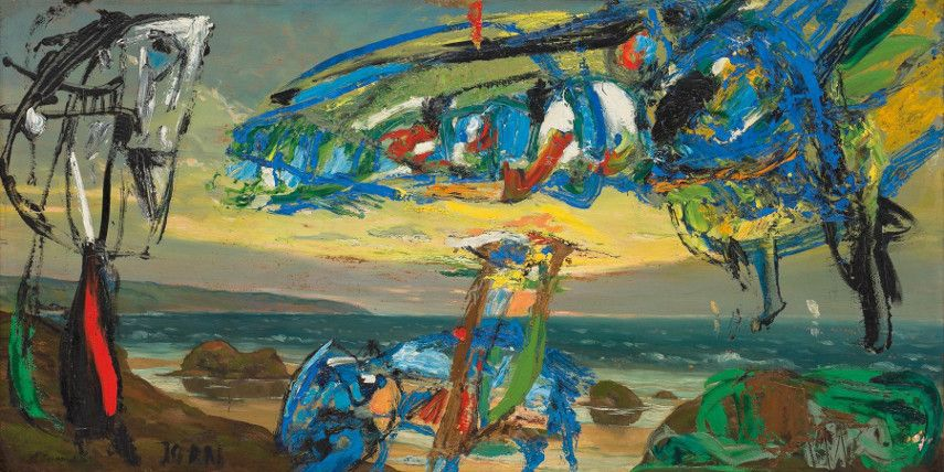 Asger-Jorn-The-Flying-Dutchman-1959-Image-via-petzelcom